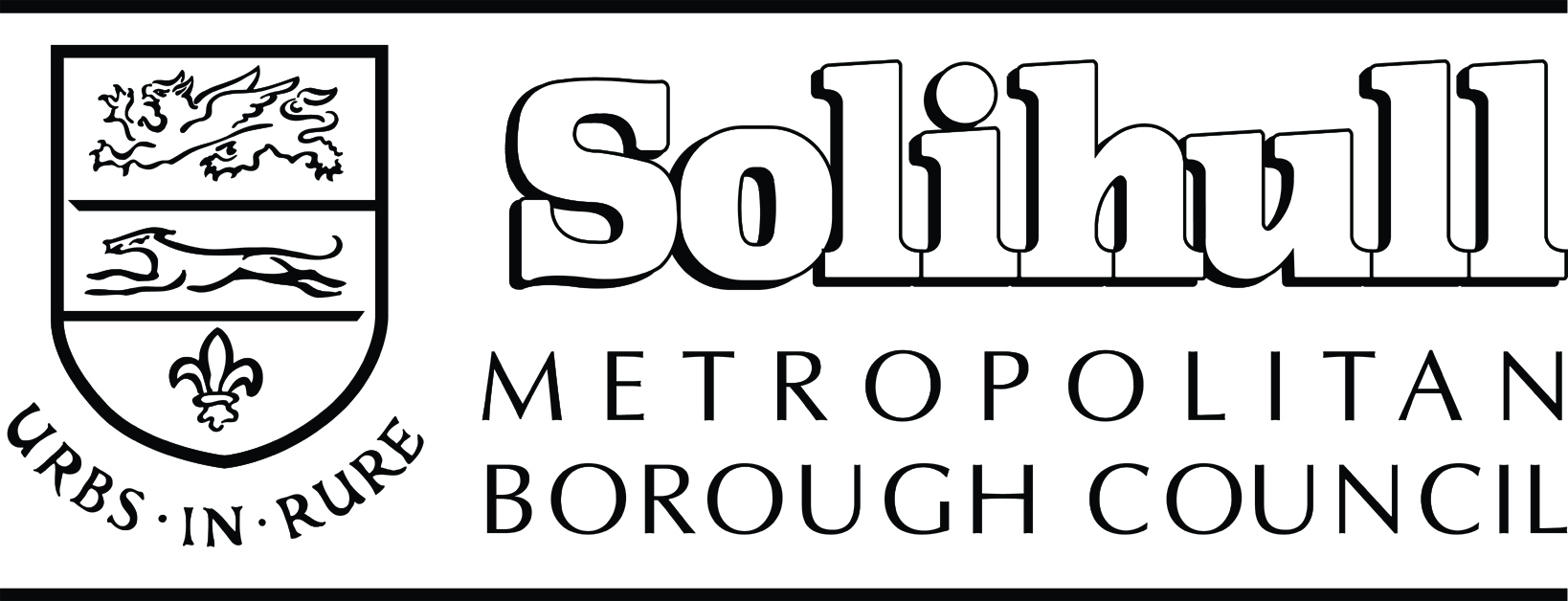 b&w version of Solihull logo